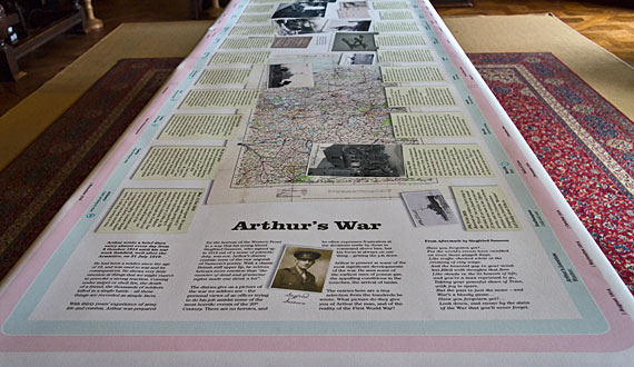 The Arthur's War exhibition at Scotney Castle, Kent